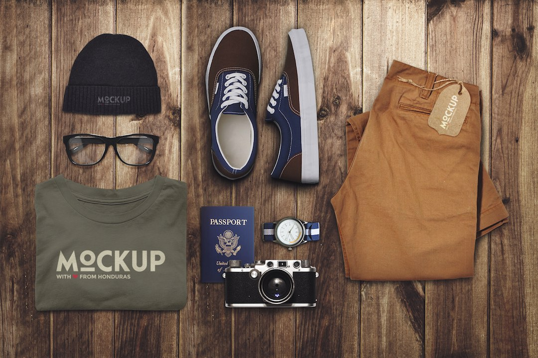 01 Travel and Clothes Mockup