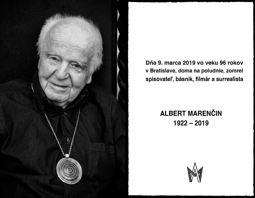 Albert Marenčin zomrel vo veku 96 rokov