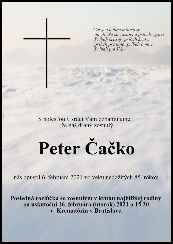 Parte člen SC PEN Peter Čačko